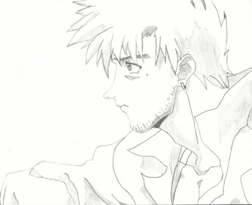 Vash of 'Trigun'; original artist/creator Yasuhiro Nightow; drawing by Sunnie LaPan