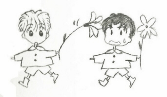 Yuu and Ginta of 'Marmalade Boy'; original by Wataru Yoshizumi; drawing by Sunnie LaPan