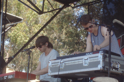 Foster the People live in Irvine, CA.   Mark Foster is on the left. - photo by Sunnie LaPan